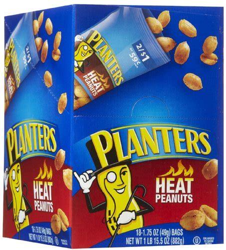 planters heat peanutstubes 1 75 oz 18 ct shopswell