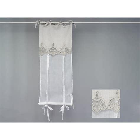 rideau store voilage blanc et dentelle beige gris 233 e simla