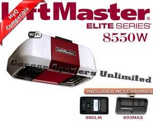 Elite Series Garage Door Opener by Liftmaster 8550w Elite Dc Battery Backup Belt Drive Wi Fi