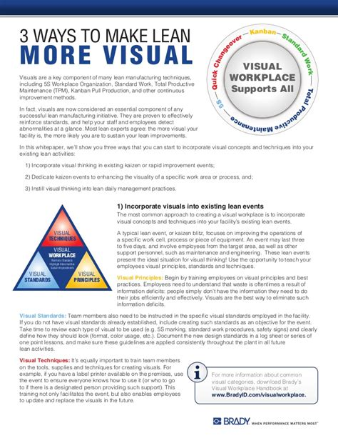 3 Ways To Make A - 3 ways to make lean more visual