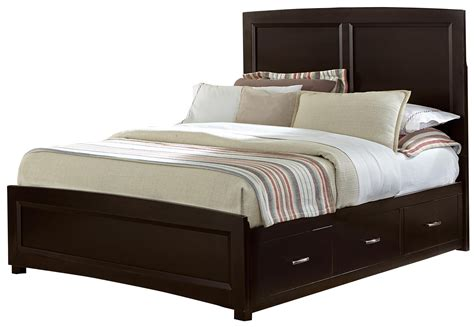 bassett beds vaughan bassett transitions queen panel bed with 2 side