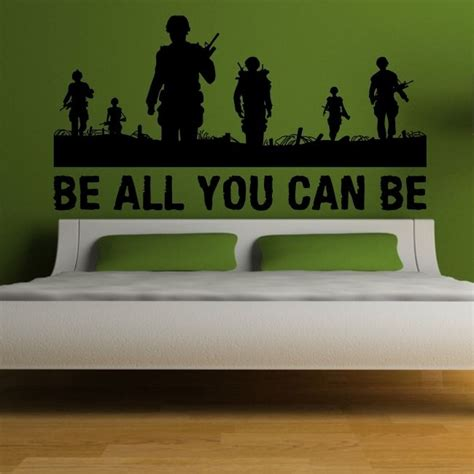 army wall stickers army wall stickers childrens bedroom troops graphic sticker vinyl decal ebay