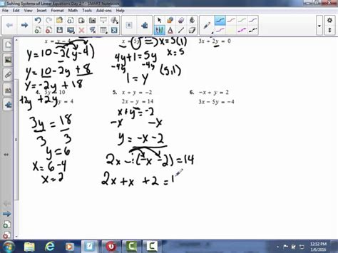 Systems Of Nonlinear Equations Worksheet by Solving Systems Of Linear Equations Using Substitution