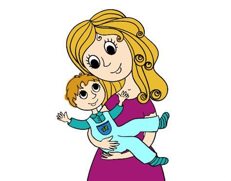 madre abrazando a su hijo dibujo de madre abrazando a su hijo pintado por en dibujos