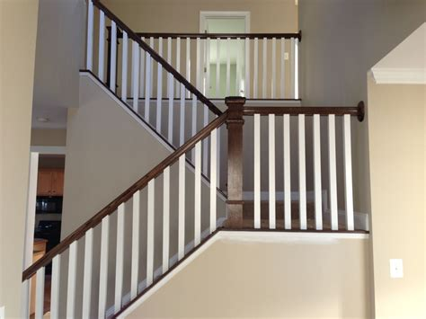 made oak stair raling balusters by parz