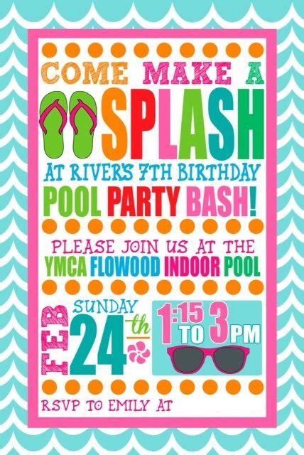 pool party invitation templates cloveranddot com