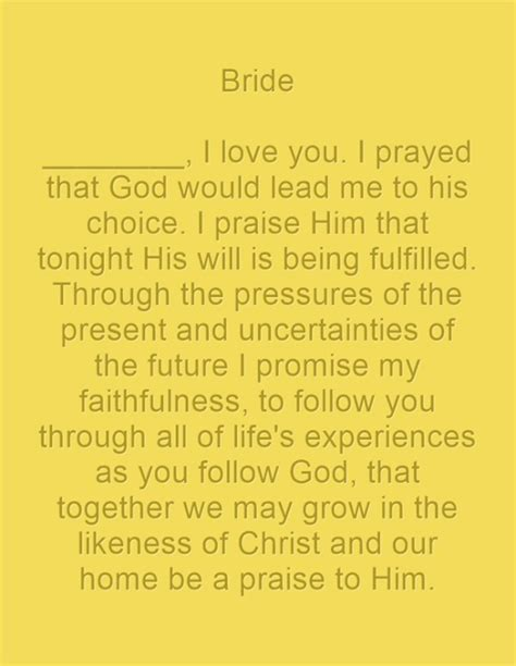 Bible Wedding Vows For by Christian Wedding Vows Exles For Groom And
