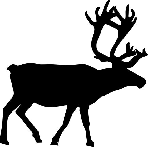 Reindeer Silhouette Outline by Animal Silhouette Reindeer Vector Free Psd Vector Icons