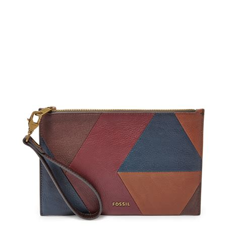 Wrislet Large Patchwork fossil patchwork large zip clutch wristlet patchwork 22629941 shopping australia