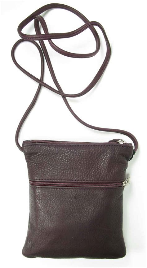 leather swing small leather swing pack in dark chocolate