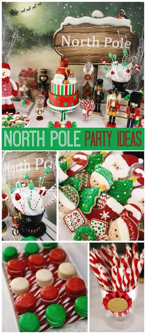 christmas pole ideas a green and pole with a santa s workshop theme and amazing treats see