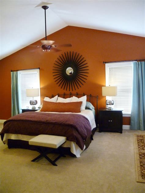 orange and brown bedroom bedroom