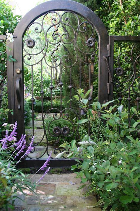 Garden Of Iron Wrought Iron Gate Landscape With Garden Beeyoutifullife