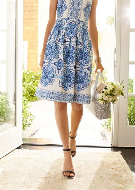 Our Grecian Tile Pleated Dress is perfect for summer
