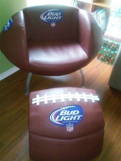 bud light leather chair bud light football chair chair design ideas