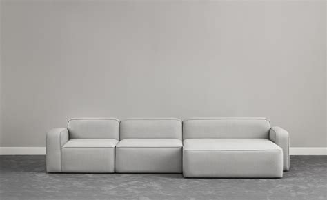 sofa 120 cm rope modular sofa open left side l 120 cm light grey