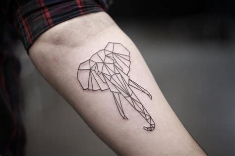 arm elephant geometric tattoo by bang bang