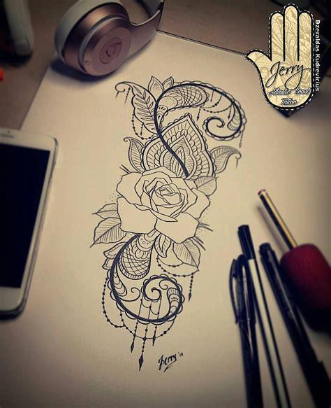 tattoo mandala costela rose tattoo design idea lace mendi pattern jerry