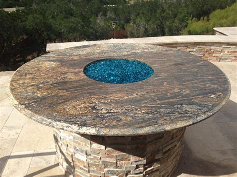 colored glass table ls outdoor living gallery boerne fireplaces braunfels