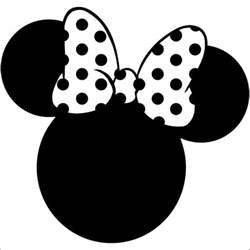 Mickey Mouse Silhouette Template by 7 Minnie Mouse Silhouettes Free Premium Templates