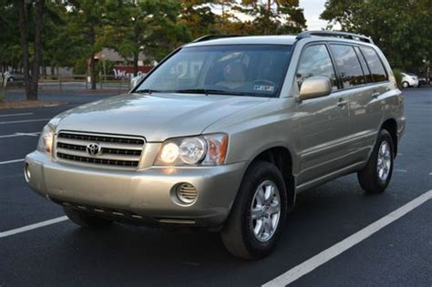 automobile air conditioning service 2003 toyota highlander lane departure warning purchase used 2003 toyota highlander limited awd in absecon new jersey united states