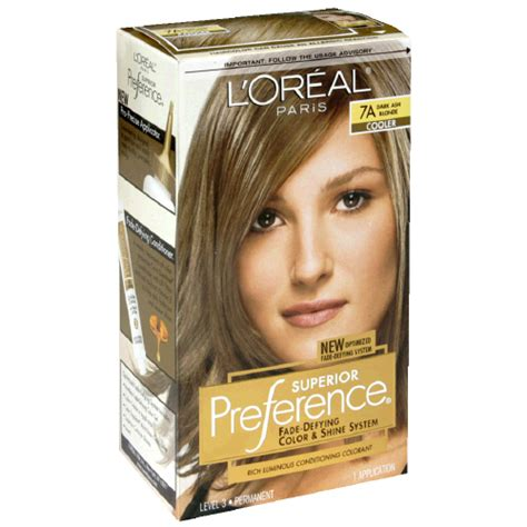 7a hair color loreal preference permenant hair color 7a ash blond