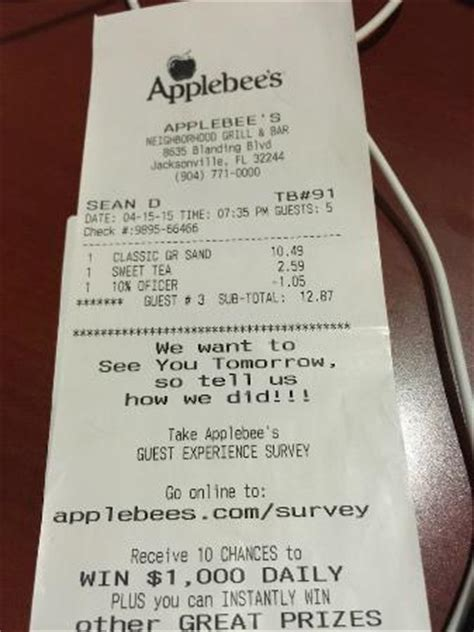 american restaurant receipt templates write classical receipt for trip picture of applebee s jacksonville
