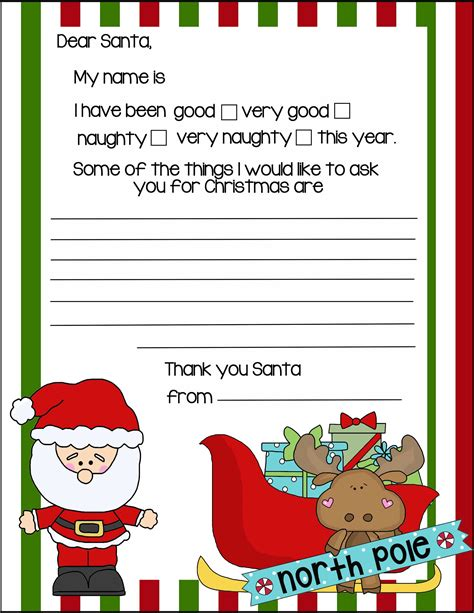 20 letters to santa and printable envelopes christmas