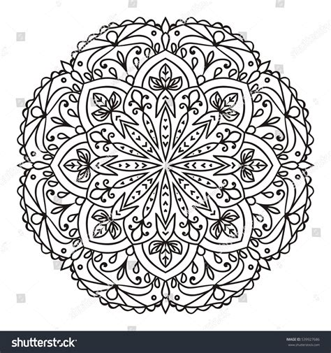 indian ornaments and design elements vector decorative mandala isolated on white background indian