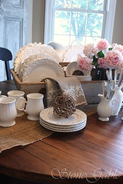 Dining Room Table Setting Dishes This Looks Like The Basket On My Dinning Room Table With All My White Dishes In It For The