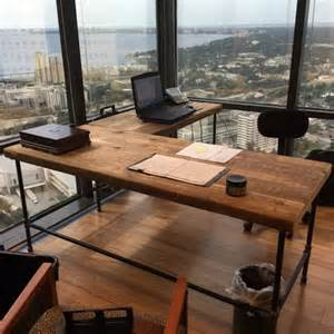 reclaimed wood desk diy luxury offices beautifully reclaimed wooden desks