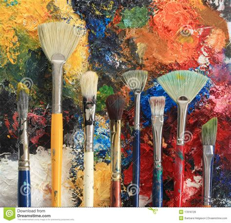 free painting paint brushes royalty free stock photos image 17818728