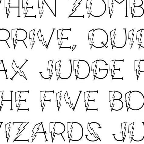 lightning font ld lightning font
