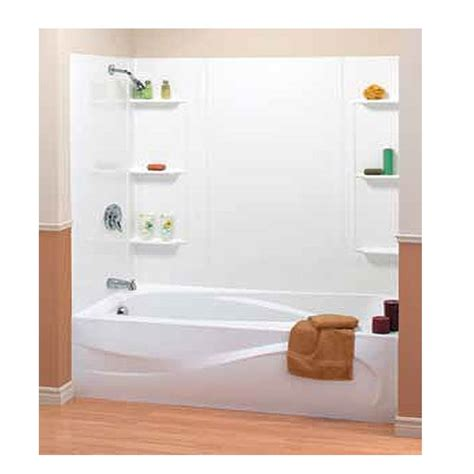 bathtub wall surrounds 5 piece mobile home bathtub surround w shelves 54 quot x 27 quot