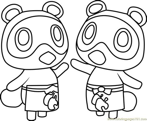 timmy and tommy animal crossing coloring page free