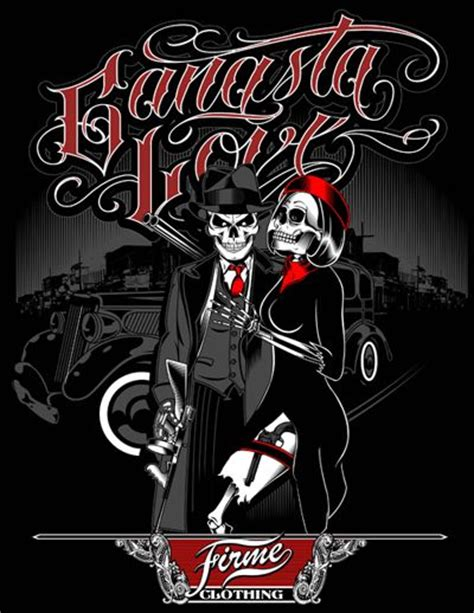 homies love gangsta love by firme clothing designed by