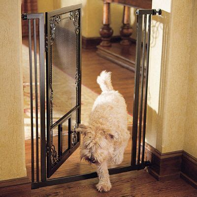 mesh dog gates house 42 quot h tension mount dual door gate doggie style pinterest
