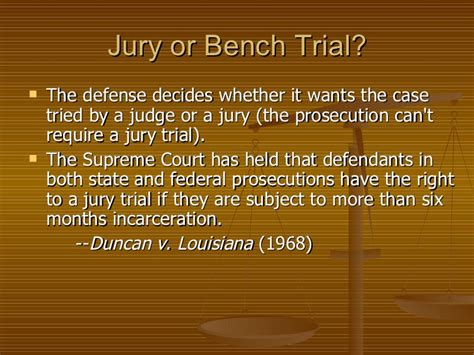 jury or bench trial ch 18 criminal trial