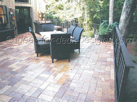 paver deck designs
