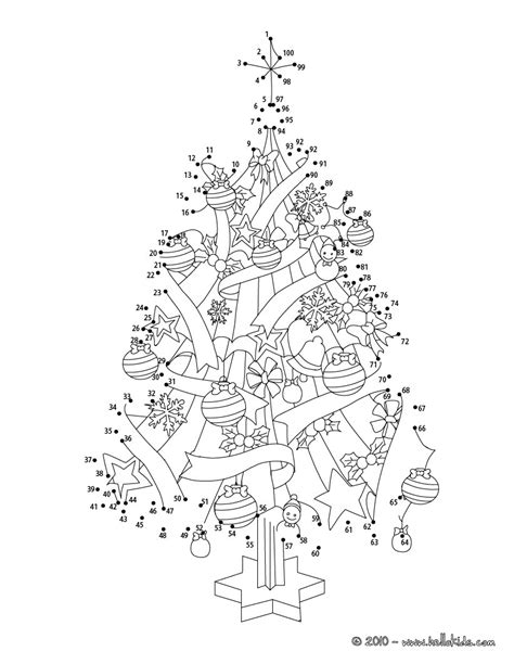 connect the dots christmas tree tree coloring pages hellokids