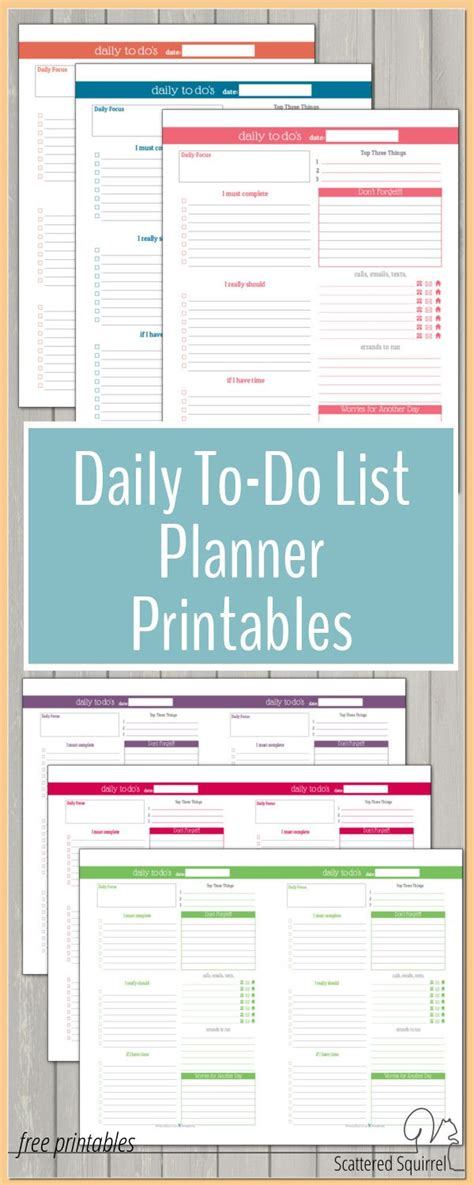 printable daily to do list calendar stay on track in 2016 with these daily to do list planner