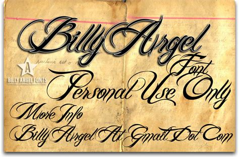 tattoo font billy argel billy argel font font 1001 free fonts