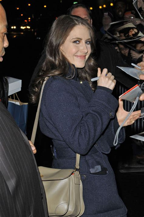 alison brie late show alison brie greets fans in nyc zimbio