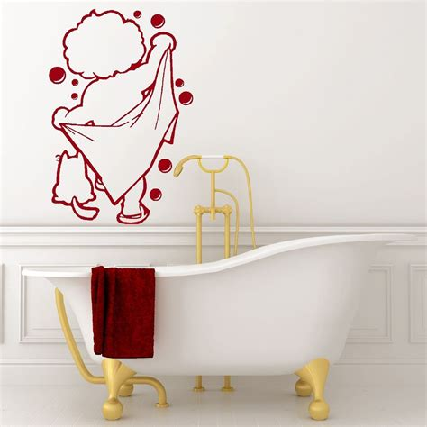 bathroom vinyl wall art bath time vinyl wall art bathroom shower sticker decal ebay