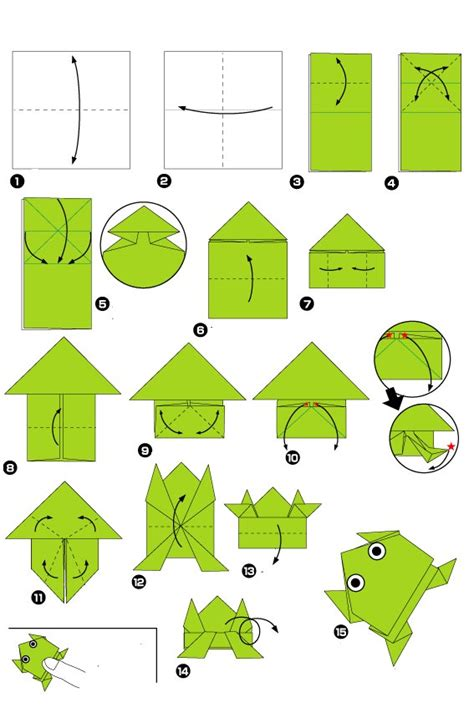 How To Do A Origami Frog - origami of jumping frog