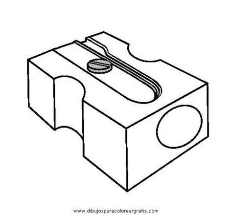 imagenes de utiles escolares para iluminar dibujos mixtos sacapuntas 2