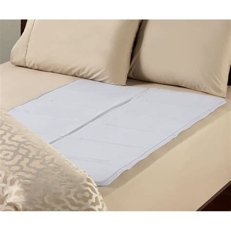 bed pads the instant cooling bed pad queen full hammacher schlemmer