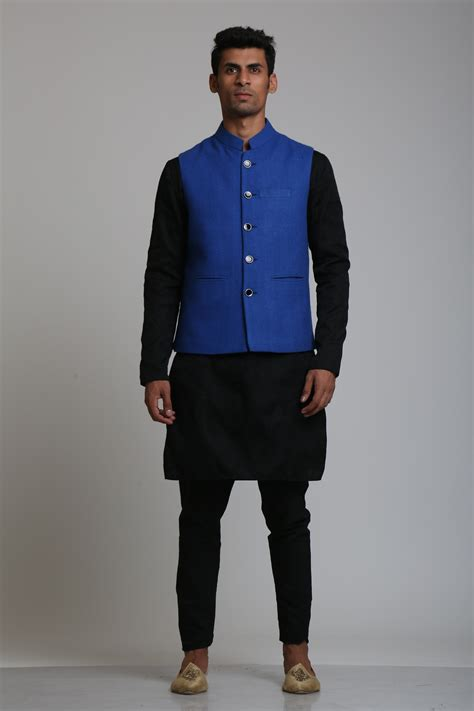 Made In India Home Decor by Black Kurta Pajama With Jacket Design Theatre