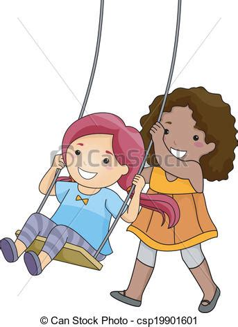 swinging with friends video swinging clipart clipground