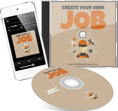 Design Your Own Home Page by Create Your Own Job Audio Pack Bigproductstore Com